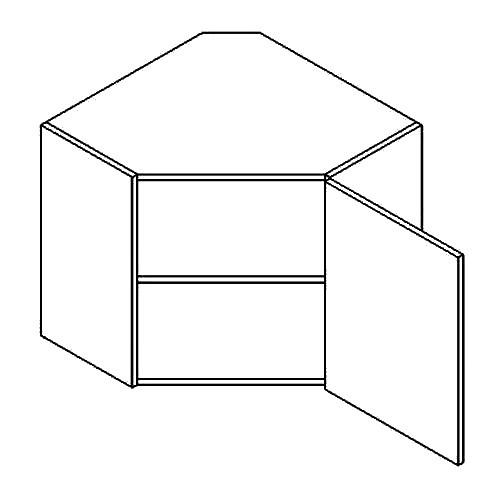 Horní kuchyňská skříňka, rohová - Casarredo - Moreno - Roh 60