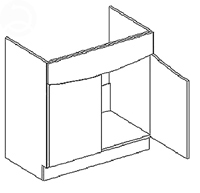 Spodní kuchyňská skříňka - Casarredo - Smile - D80 pod dřez