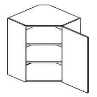 Horní kuchyňská skříňka, rohová - Casarredo - Smile - Roh 60
