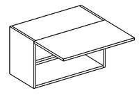 Horní kuchyňská skříňka - Casarredo - Smile - W60 nad digestoř