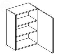 Horní kuchyňská skříňka - Casarredo - Smile - W60
