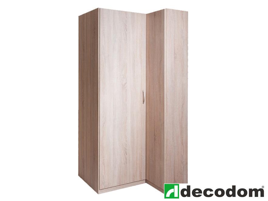 Rohová šatní skříň - Decodom - Trio - 2DV