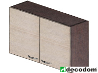Horní kuchyňská skříňka - Decodom - Stela - H 100