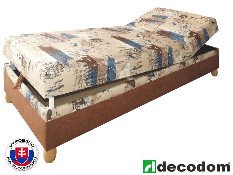 Jednolůžková postel (válenda) 80 cm - Decodom - Rafael Vento 12 + Life 19 (s roštem a matrací)