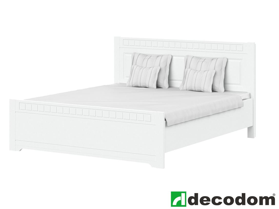 Manželská postel 180 cm - Decodom - Lirot - Typ P-180 (bíla arctic)