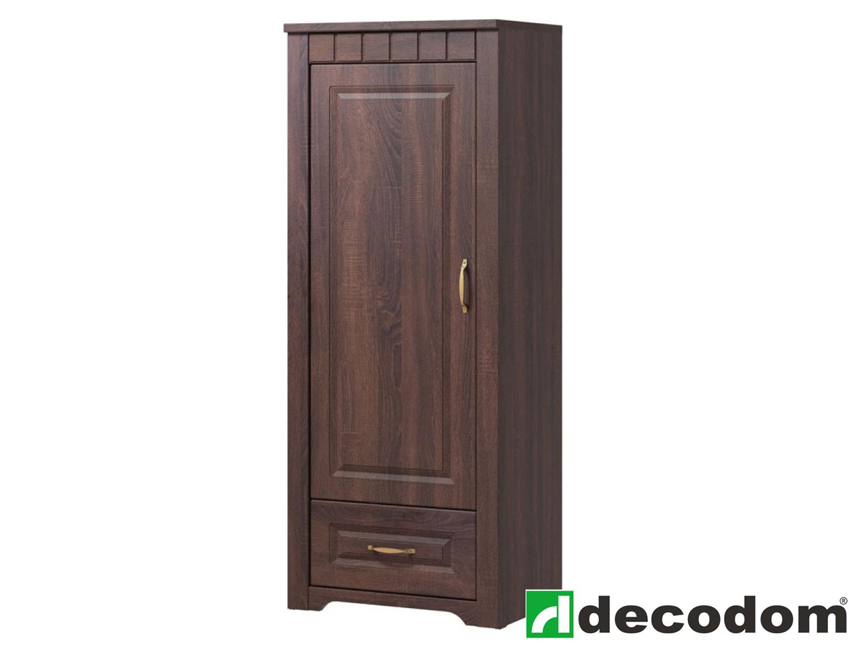 Policová skříň - Decodom - Lirot - Typ 03 (dub řezaný schoko)