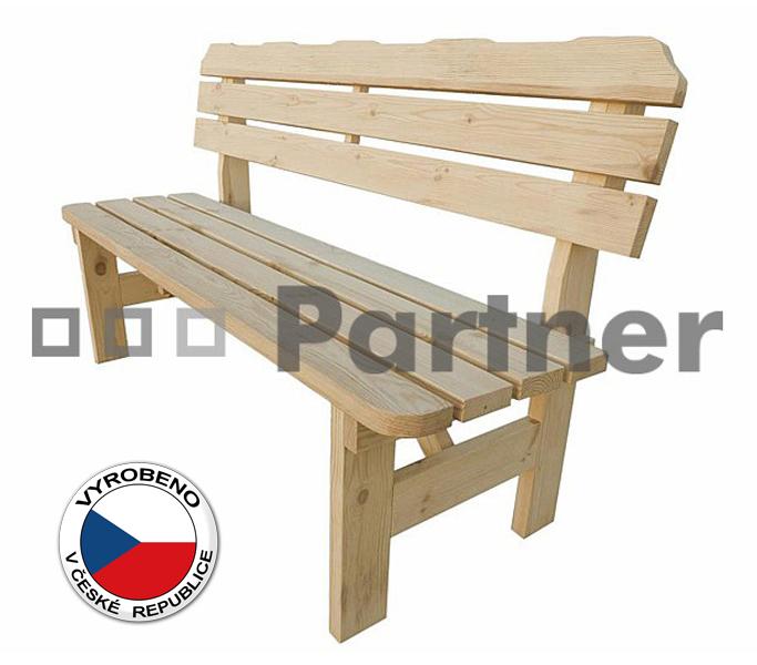 Záhradní lavička - Deokork - Borovice masiv 02