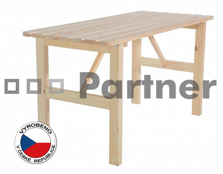Záhradní stůl - Deokork - Borovice masiv 01