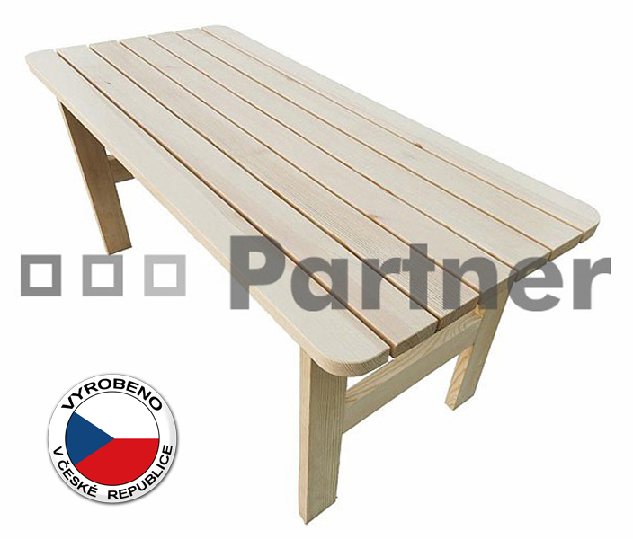 Záhradní stůl - Deokork - Borovice masiv 02