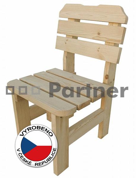 Záhradní židle - Deokork - Borovice masiv 01