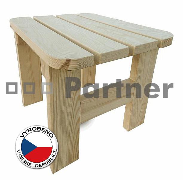 Záhradní taburet - Deokork - Borovice masiv 01
