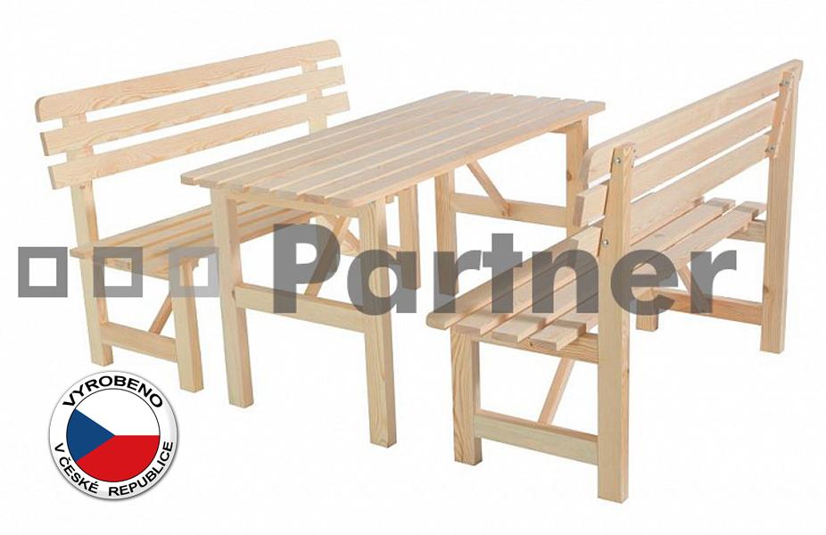 Záhradní nábytek - Deokork - Borovice masiv 1+2 - 01