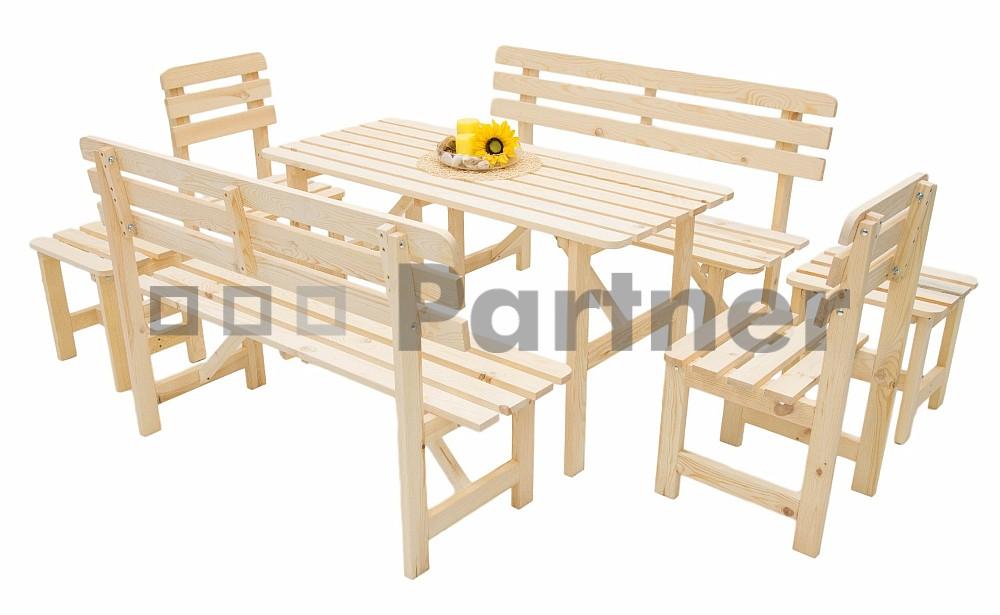 Záhradní nábytek - Deokork - Borovice masiv 1+6 - 01