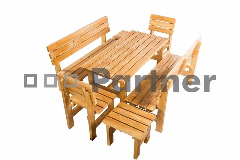 Zahradní nábytek - Deokork - Tea 1+6 (Borovice Masiv)