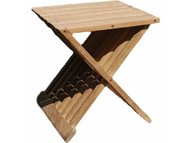 Zahradní stolek - Deokork - Flow (Teak)