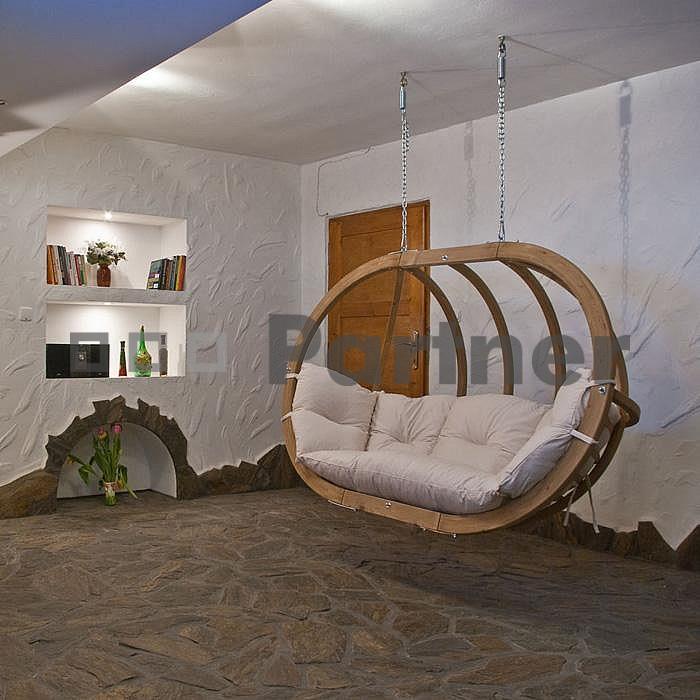 Závěsné houpací křeslo - Deokork - Petra natural