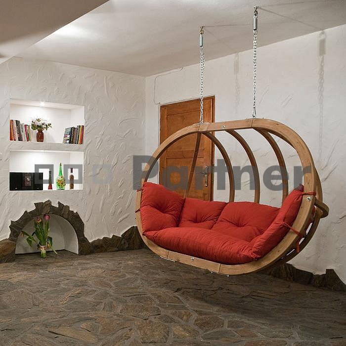 Závěsné houpací křeslo - Deokork - Petra terakotta