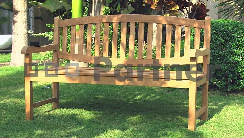 Zahradní lavička - Deokork - Blade 120 cm (Teak)