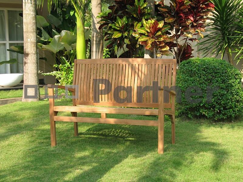 Zahradní lavička - Deokork - Harmony 120 cm (Teak)