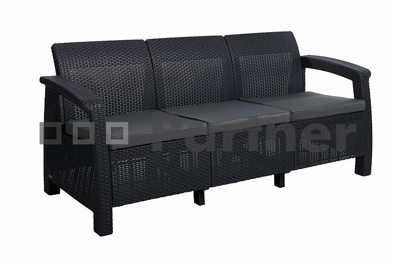 Zahradní lavička - Deokork - Corfu Love Seat Max antracit (um. ratan)