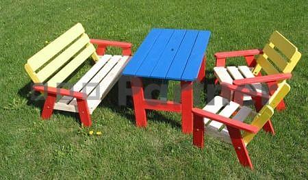 Záhradní dětský nábytek - Deokork - Ella (Masiv)