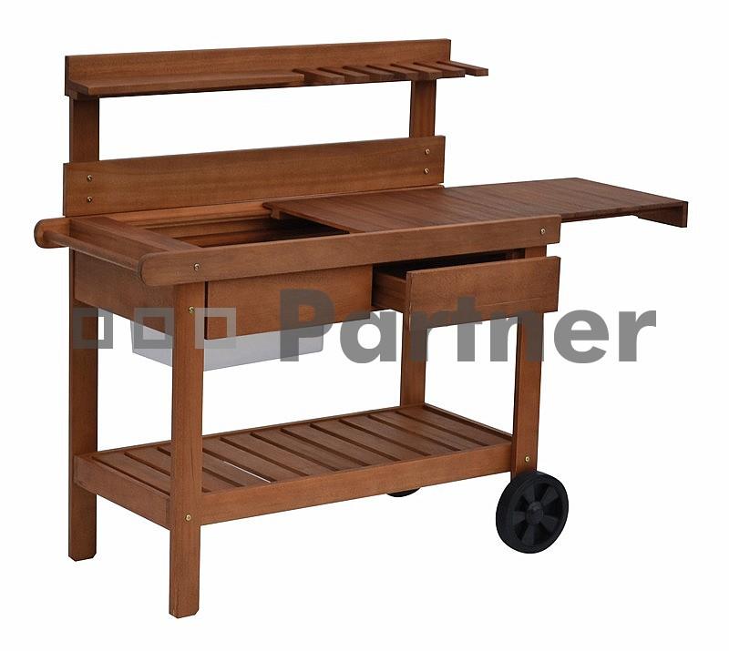Zahradní servírovací stolek - Deokork - Coruna (Eukalyptus)