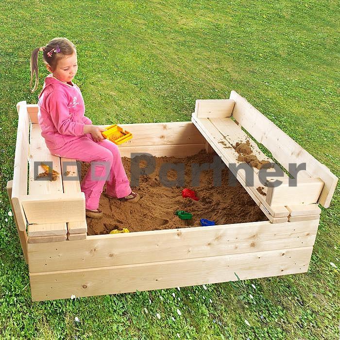 Zahradní pískoviště s lavičkou - Deokork *bábovičky ZDARMA