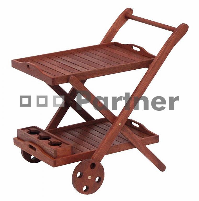Zahradní servírovací stolek - Deokork - La Rochelle (Meranti)