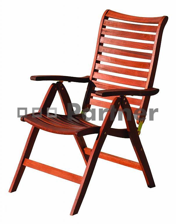 Zahradní židle - Deokork - Bordeaux (Meranti)