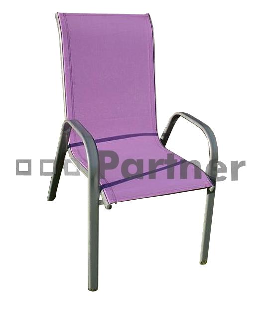 Zahradní židle - Deokork - Gloria fialová (kov)