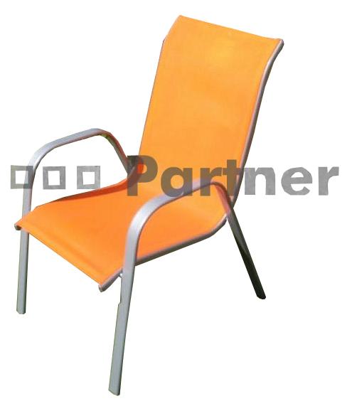 Zahradní židle - Deokork - Gloria oranžová (kov)