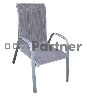 Zahradní židle - Deokork - Gloria šedá (kov)
