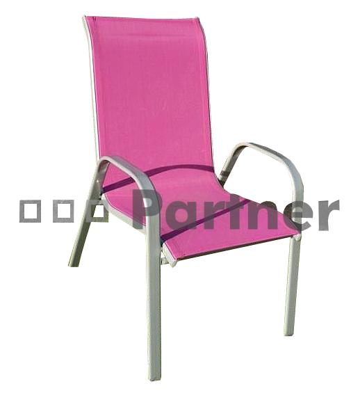 Zahradní židle - Deokork - Gloria vínová (kov)