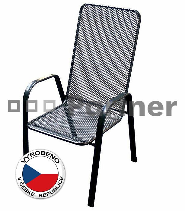 Zahradní židle - Deokork - Sága vysoká (kov)