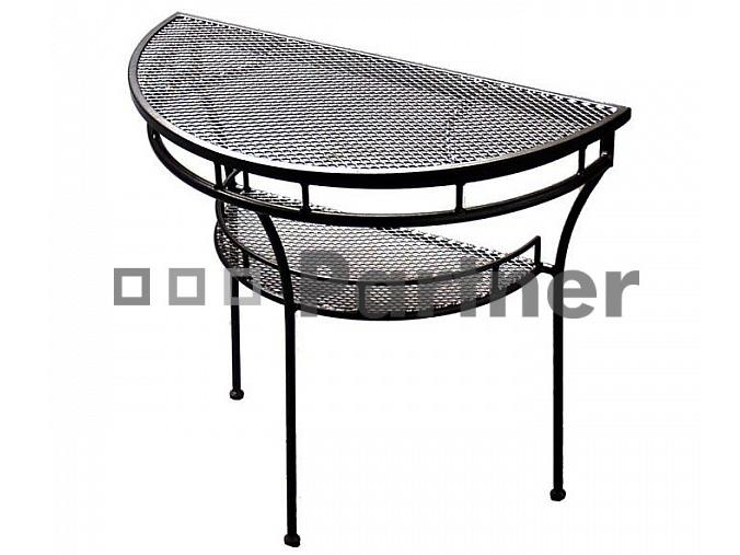 Zahradní stůl - Deokork - Kovovy pol stol (Kov)