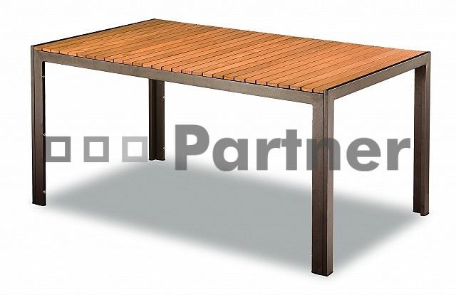 Zahradní stůl - Deokork - TAM 03702 90x150 cm hnědá (Kov)