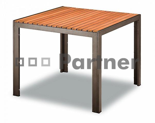 Zahradní stůl - Deokork - TAM 03702 90x90 cm hnědá (Kov)