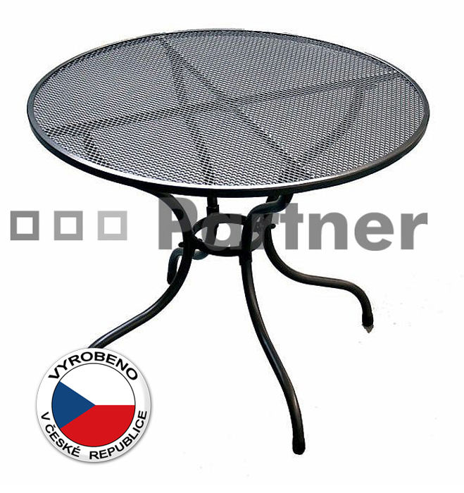 Zahradní stůl - Deokork - kulatý 105 cm (kov)