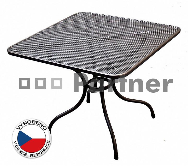 Zahradní stůl - Deokork - 105 x 105 cm (kov)
