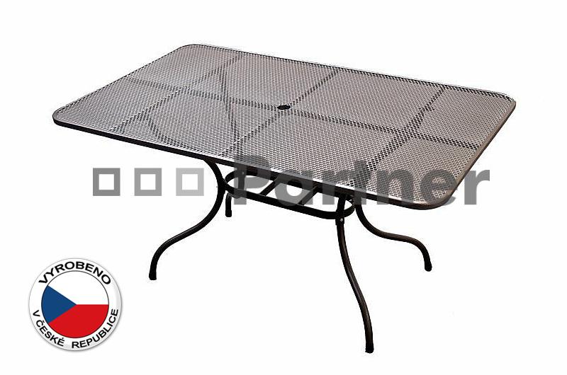 Zahradní stůl - Deokork - 145 x 90 cm (kov)
