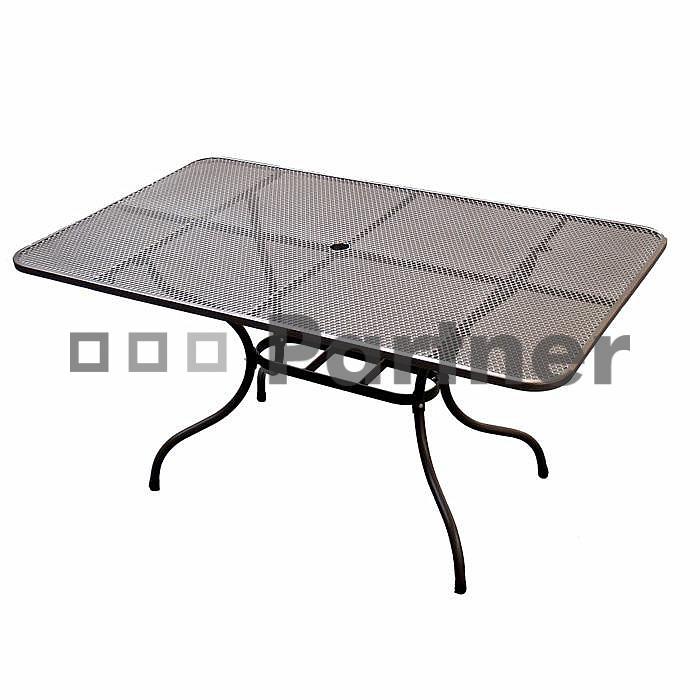Zahradní stůl - Deokork - 160 x 95 cm (kov)