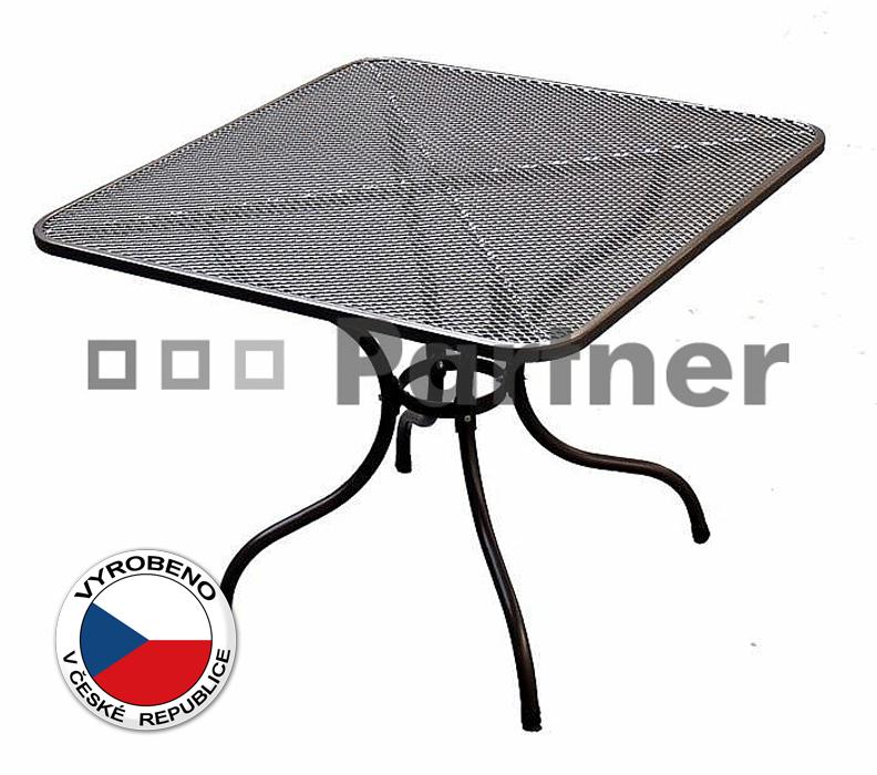 Zahradní stůl - Deokork - 90 x 90 cm (kov)