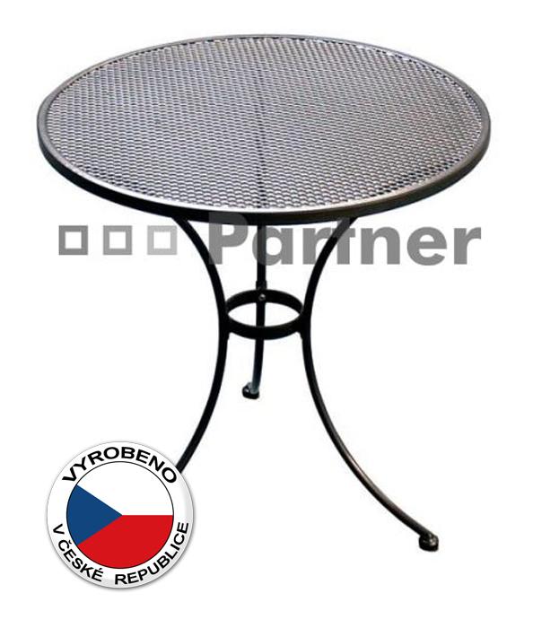 Zahradní stůl - Deokork - kulatý 70 cm (kov)