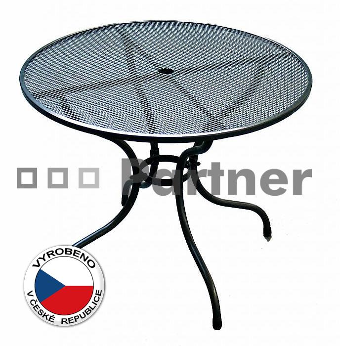 Zahradní stůl - Deokork - kulatý 90 cm (kov)