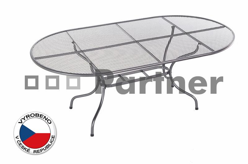 Zahradní stůl - Deokork - oválný 190 x 105 cm (kov)