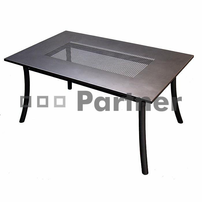 Zahradní stůl - Deokork - PL 145 x 90 cm (kov)