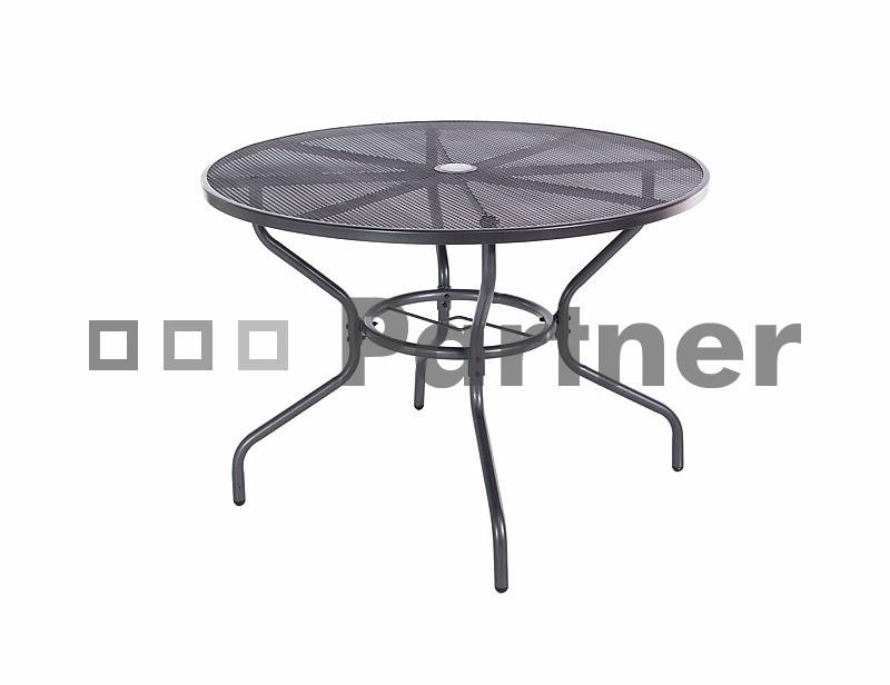 Zahradní stůl - Deokork - Tampa černá (kov)