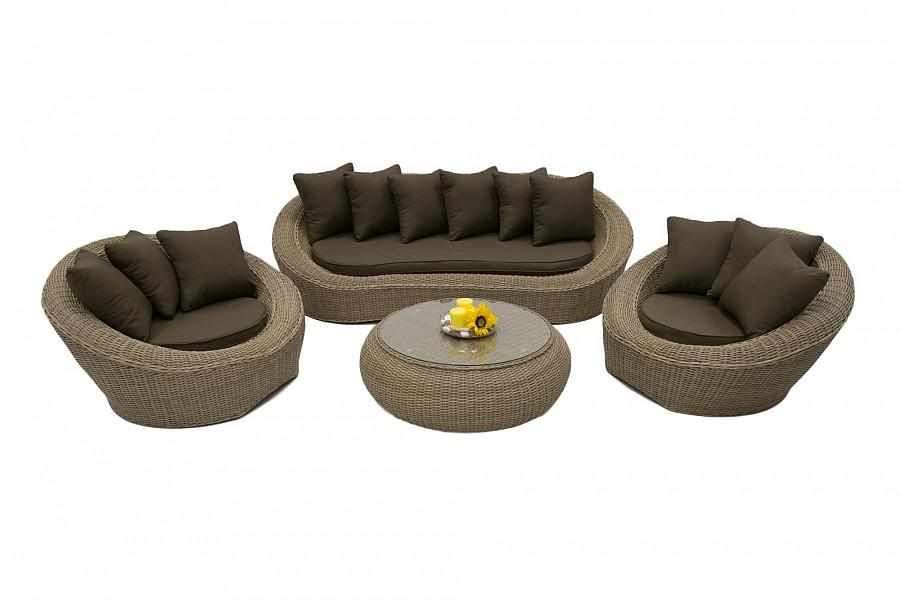 Zahradní nábytek - Deokork - Čajová (um. Ratan) *polštáře ZDARMA