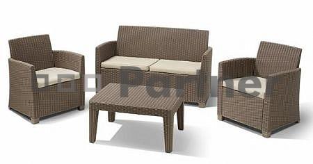 Zahradní nábytek - Deokork - Angela cappuccino (um. ratan) *polštáře ZDARMA