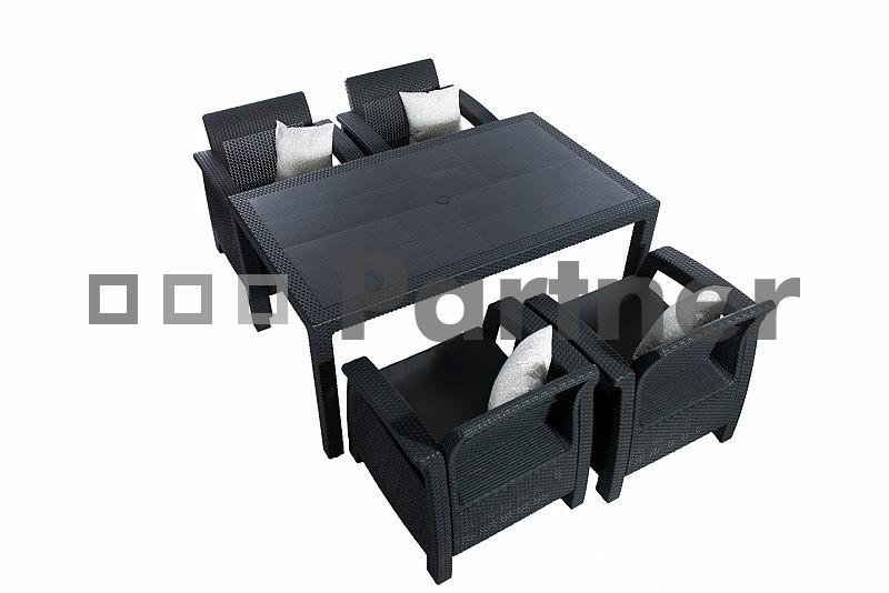 Zahradní nábytek - Deokork - Corfu Lounge II 1+4 (um. ratan) *polštáře ZDARMA